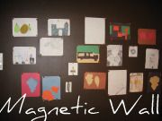 Magnetic wall to hand temporary picture, art work....