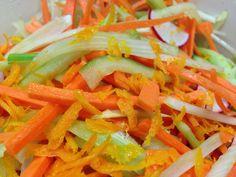 Fennel and orange salad Fennel And Orange Salad, Olive Salad, Healthy Habits, Healthy Food, Healthy Eating, Yum Food, Delicious Food, My Favorite Food, Favorite Recipes
