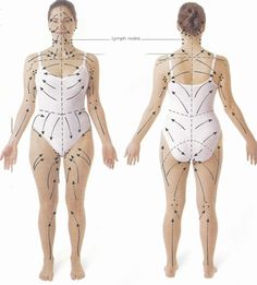 Lymph drainage pattern for skin brushing- detox, drop weight, and cure cellulite naturally. I am a new fan to skin brushing. Even if it doesn't do all those things above, my skin looks and feels great and I enjoy the mini-massage every day. Fitness Workouts, Exercise Fitness, Ayurveda, Acne Detox, Dry Brushing Skin, Dry Skin, Dry Brushing Benefits, Smooth Skin, Lymphatic System