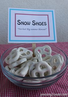 Simple snack ideas for a Frozen birthday party