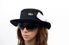 Mens / Womens Unisex Lacoste The Classic Crocodile Embroidery Logo Fisherman Adjustable Bucket Hat - Black Lacoste Store, Mlb Baseball Caps, Animal Print Outfits, Knit Beanie, Keep Warm, Crocodile, Bucket Hat, Street Style, Embroidery