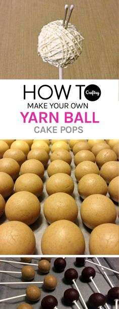Finally,... some cake pops perfect for knitters. Learn how to make these easy yarn ball treats on the Craftsy blog.