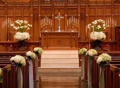 style idea to decorate church pews