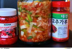 Pepper Powder, Red Peppers, Kimchi, Pickles, Cucumber, Salsa, Stuffed Peppers, Ethnic Recipes, Food
