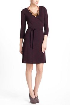 Simple. Understated and professional with style.  Space-Dyed Wrap Dress - Anthropologie.com