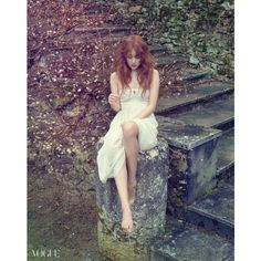 Yoon Eun Hye Is an Ethereal Forest Fairy for Vogue ❤ liked on Polyvore featuring models