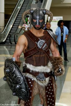 Just hanging out at the mall in my leather armor, no big deal