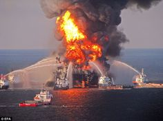 An explosion on offshore drilling rig Deepwater Horizon in the Gulf of Mexico on April 20 2010 triggered the worst oil spill in U.S history