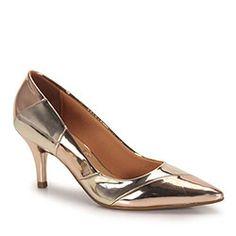 Sapato Scarpin Feminino Vizzano - Dourado(A)