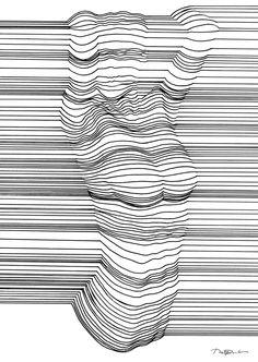 #drawing #blackandwhite #stripes