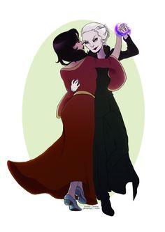 emma and regina.  SWAN QUEEN!