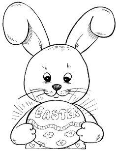 easter idear from christina juse this for a card print it out on cardborad and color or color it and juse this as a front page