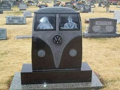 Marker- They May Be Gone but They're Still Travelin' in the Afterlife in that VW Bus.