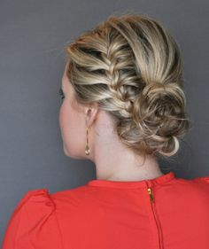 UPDO BRAID – WEDDING HAIRSTYLE FOR LONG HAIR Some ladies may not like French twists or rope braids, but trust me this updo braid will look romantic when styled on your head to a wedding. It works best for ladies with long hair but those with medium length hair can as well style it and look incredibly trendy. - See more at: http://www.askmamaz.com/wedding-hairstyles-long-hair/#sthash.RaYVTPbf.dpuf