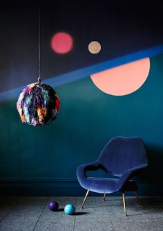 Cobalt Velvet and emerald interiors