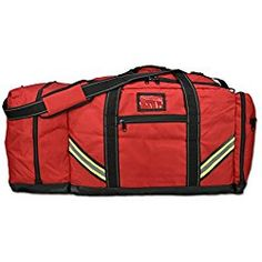 Lightning X Firefighter Premium 3XL Step-In Turnout Gear Bag - Red w/ NO LOGO (Customizable)
