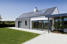 Drumlins Eco House, Co. Down — Paul McAlister Sustainable and Passive House Architects - Portadown, Belfast, Northern Ireland House Designs Ireland, Cool House Designs, Modern House Design, Passive House Design, Bungalow Renovation, Long House, Rural House, Ireland Homes, House Ireland