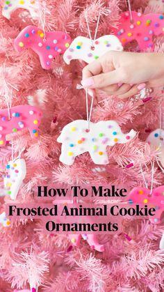 Pink Christmas, Diy Christmas Ornaments, Christmas Treats, Holiday Crafts, Holiday Fun, Fun Crafts, Christmas Holidays, Christmas Decorations, Diy Gifts