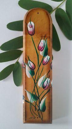 Mezuzah Case, Floral Mezuzah, Wooden Mezuzah case, Pink Mezuzah, White Mezuzah…