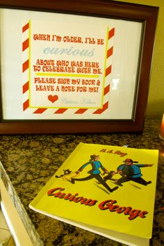 Sign-In Book: Use Curious George Bday Book
