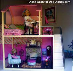 Our Generation Lori Loft Dollhouse Furniture Sets Lot For