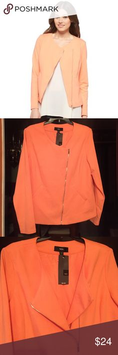Peach 🍑 zipper jacket Nice 👍 soft slive Mossimo Supply Co Jackets & Coats