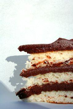 White Cake, Chocolate Fudge Frosting