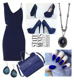"""Sapphire Blue"" by isabellehuddleston-1 ❤ liked on Polyvore featuring 1928, Miss Selfridge and Ippolita"