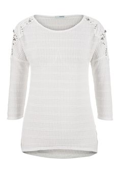 embellished crochet shoulder dolman top @ maurices- but in the wintergreen color, not white