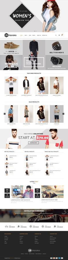 Maroko – Responsive #Shopify Fashion Theme is a clean and elegant design – suitable for selling clothing, fashion, high fashion, men fashion, women fashion, accessories, watches, jewelries, shoes. Home page is designed eye-catching with large slideshow above and below Mega Menu. Slideshow is great with smooth transitions of texts and nice images. Menu supports links to products categories and internal links, external links. #eCommerce #website