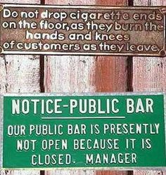funny Signs | Smile!!! Please???: Funny-Bar-Signs