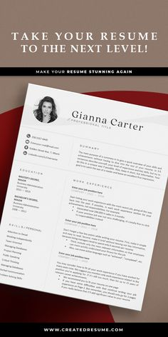 Creative and professional resume template that will help to get the job of your dreams faster! Easy to customize on Word and Apple Pages. Designed by an experienced CreatedResume team these resume templates will catch an eye and help you outstand from the others. #resume #resumetemplate #modernresume #resumeformat #resumedesign #resumetips #createdresume #cv #cvtemplate Modern Resume Template, Cv Template, Resume Templates, Resume Format Examples, Good Resume Examples, Best Resume, Resume Tips, University Challenge, Resume Design