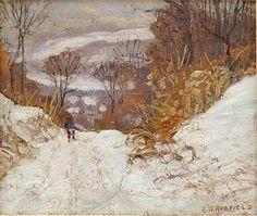 """Winter in Pennsylvania,"" Edward Willis Redfield, oil on board, 9-1/2 x 11-1/2"", private collection."