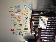 #Alphabet wall for baby nursery# nursery ideas # cherry nursery