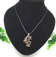 Unique Jewelry - Fashion Jewelry Rhinestone Dragon pendant Black leather Necklace Cute Gift New#3