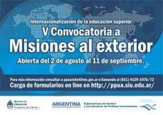 V Convocatoria a misiones al exterior #UNSJ