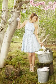 Party pretty this spring in white and pastel dresses with printed chiffon overlays. LC Lauren Conrad at Kohl's.