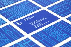 Visual identity and business card design by Mytton Williams for Bristol based leading regional contractor Bray & Slaughter