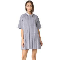 Maison Kitsune Sara Pleated Dress ($495) ❤ liked on Polyvore featuring dresses
