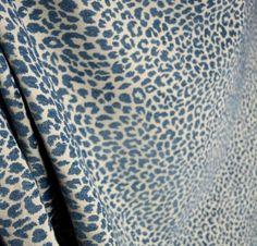 EBAY:  M9818-Delft-Chenille-Animal-Print-Blue-Upholstery-fabric