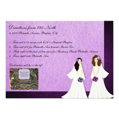 Shop Two Brides Lesbian Wedding Driving Directions Card created by markthaler. Wedding Invitations Online, Create Invitations, Bridal Shower Invitations, Invites, Lesbian Wedding, Wedding Bride, Wedding Cards, Wedding Ceremony, Wedding Directions