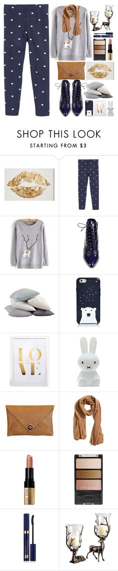 """""""Moose Jumper"""" by grozdana-v ❤ liked on Polyvore featuring Coyuchi, Kate Spade, Mr Maria, The Code, H&M, Bobbi Brown Cosmetics, Wet n Wild, Estée Lauder, women's clothing and women's fashion"""