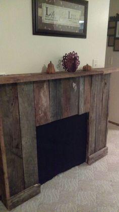 Pallet Board Fireplace Surround | House ideas | Pinterest ...