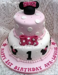 Minnie Mouse Birthday Cake. Charlie's cake for sure this year!