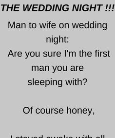 The Wedding Night - Funny Story !!!