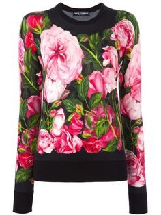 DOLCE & GABBANA rose print jumper. #dolcegabbana #cloth #jumper