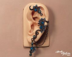 magic POND EAR WRAP wire wrapped ear wrap by bodaszilvia on Etsy