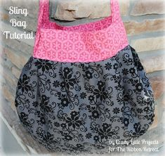 Learn how to make the cutest sling bag with the easiest instructions by Crazy Little Projects!