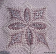 Coffeebean's Dailies: Hardanger Bargello Table Runner Progress...92711. { This pattern is from Vaughnie's Visions II, A touch of Metallic.  It was created by Vaughnie Olivieri.  The book is sold by NordicNeedle.com.}
