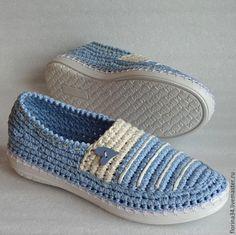 Купить Балетки уличные Слиперы, голубой, р. 37.5-38 - обувь ручной работы